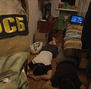 Опубликовано видео задержания планировавших теракты в Петербурге