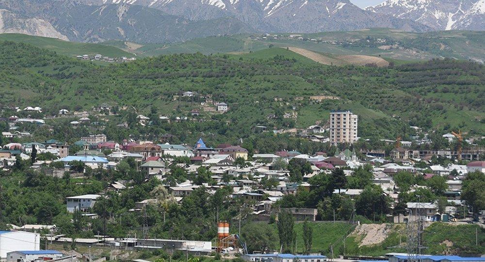 Вид на город Душамбе
