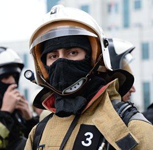 Участник соревнований спасателей МЧС