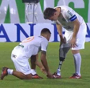 футболист с протезом
