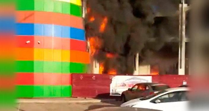 Пожар ТРЦ Алания Молл