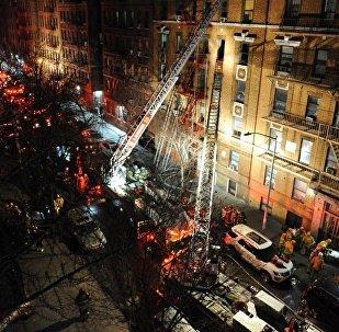 Пожар в Нью-Йорке