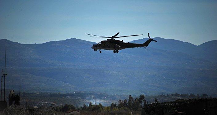 Вертолет Ми-24 в Сирии