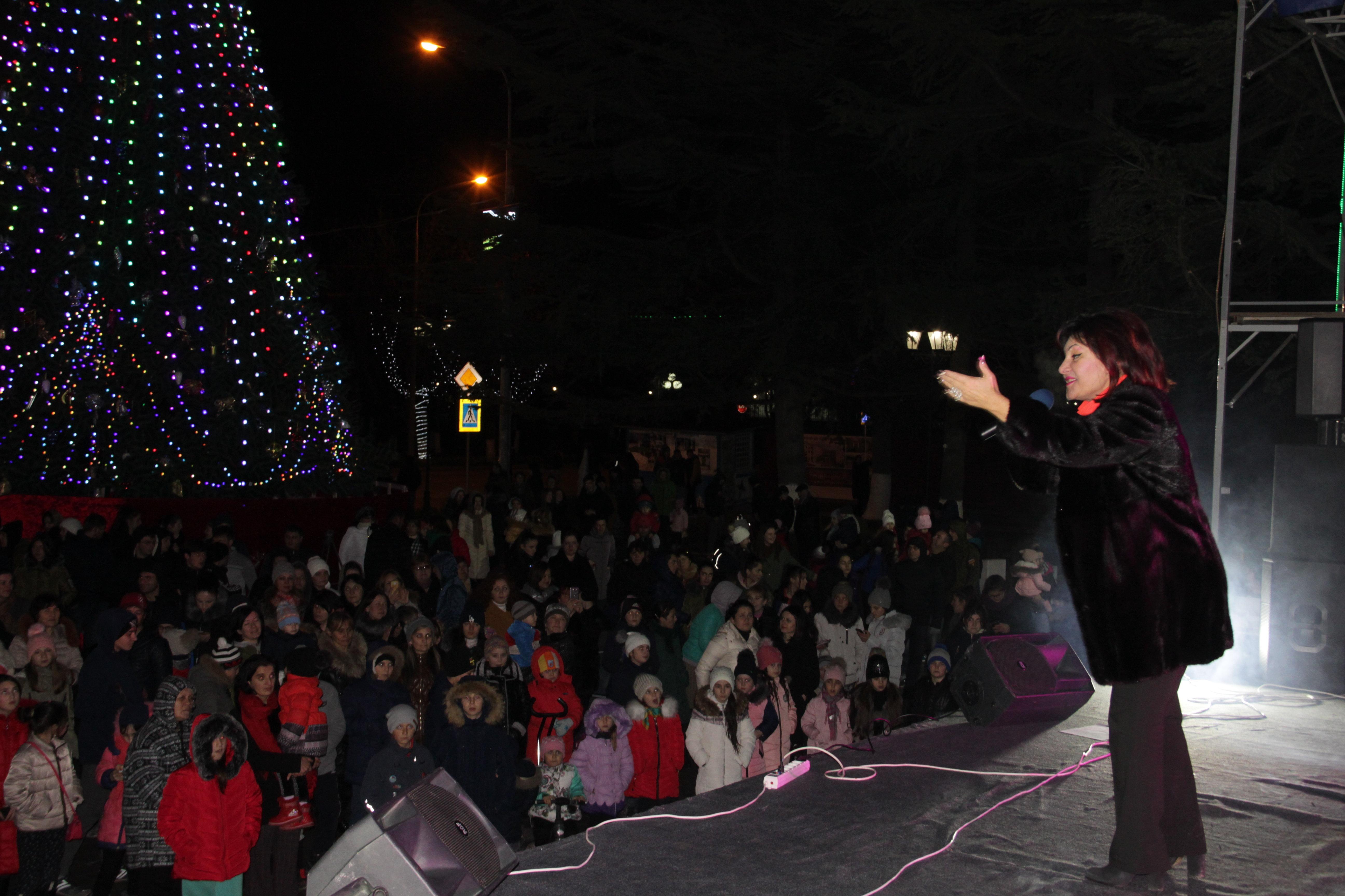 Новогодний концерт в Цхинвале