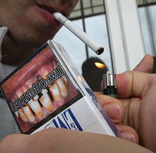 Продажа сигарет с картинками, предупреждающими о вреде курения