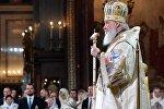 Рождество Христово. Патриаршая литургия в храме Христа Спасителя в Москве