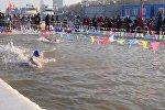 В китайском Харбине прошел турнир по зимнему плаванию