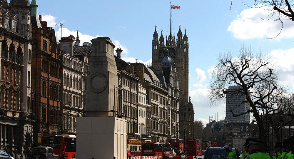Вид на здание парламента в Лондоне