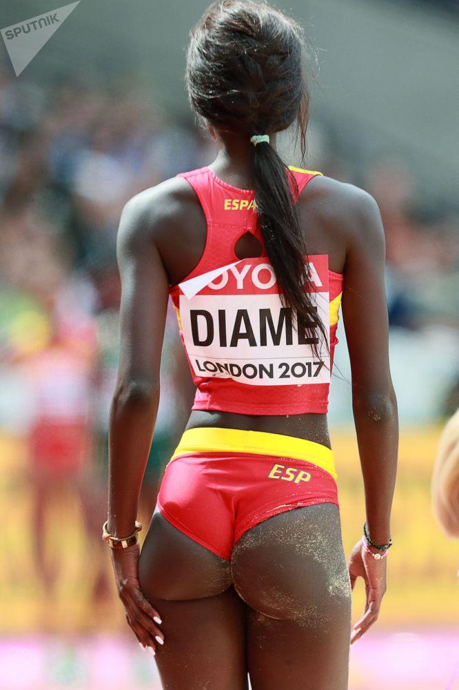 Испанская легкоатлека Фатима Диаме