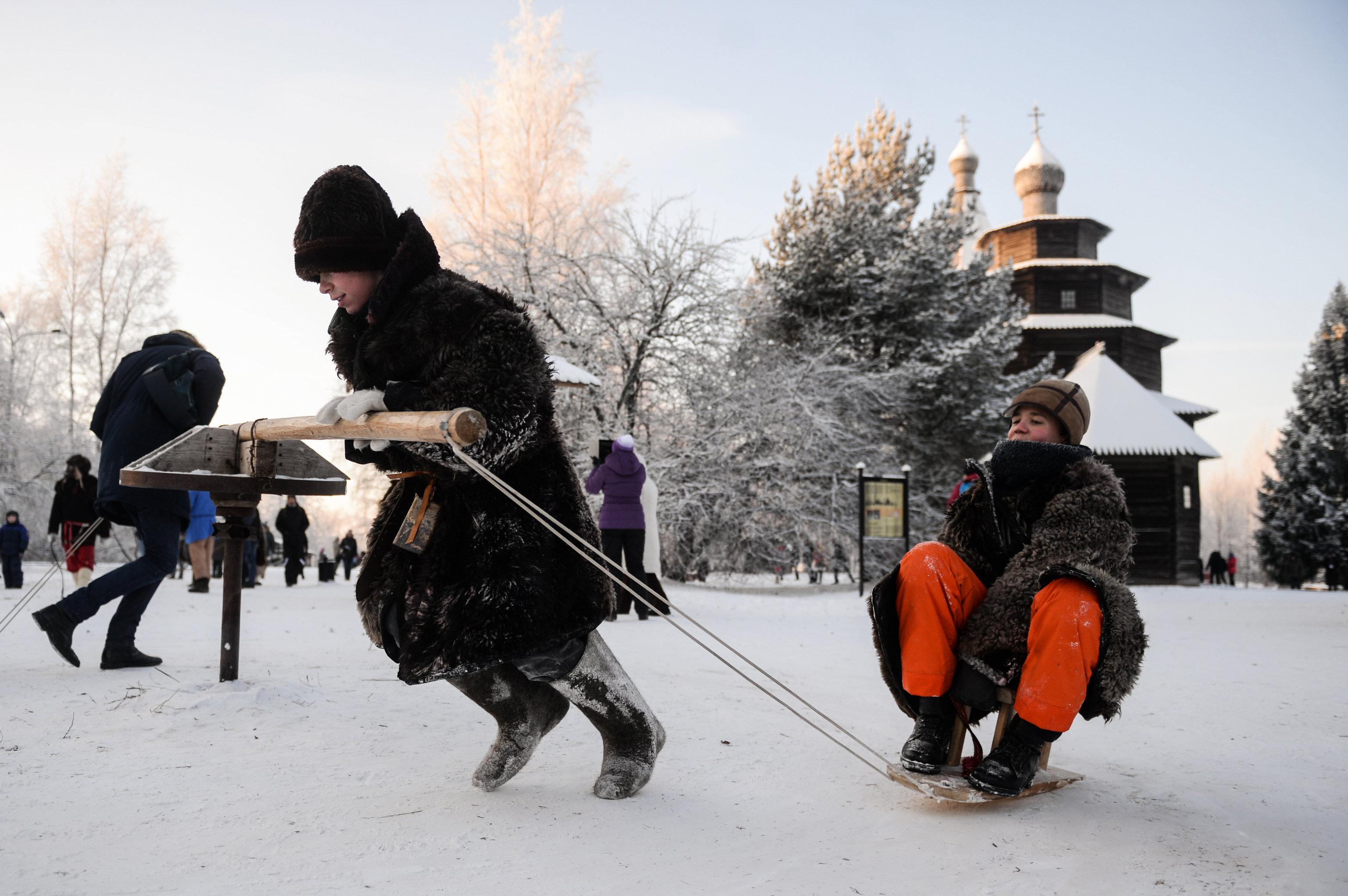 Зимний праздник в Новгородском районе