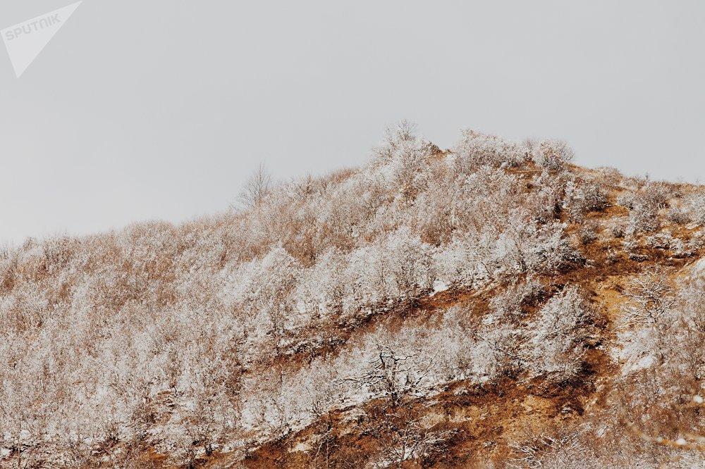 Зима в горах Осетии