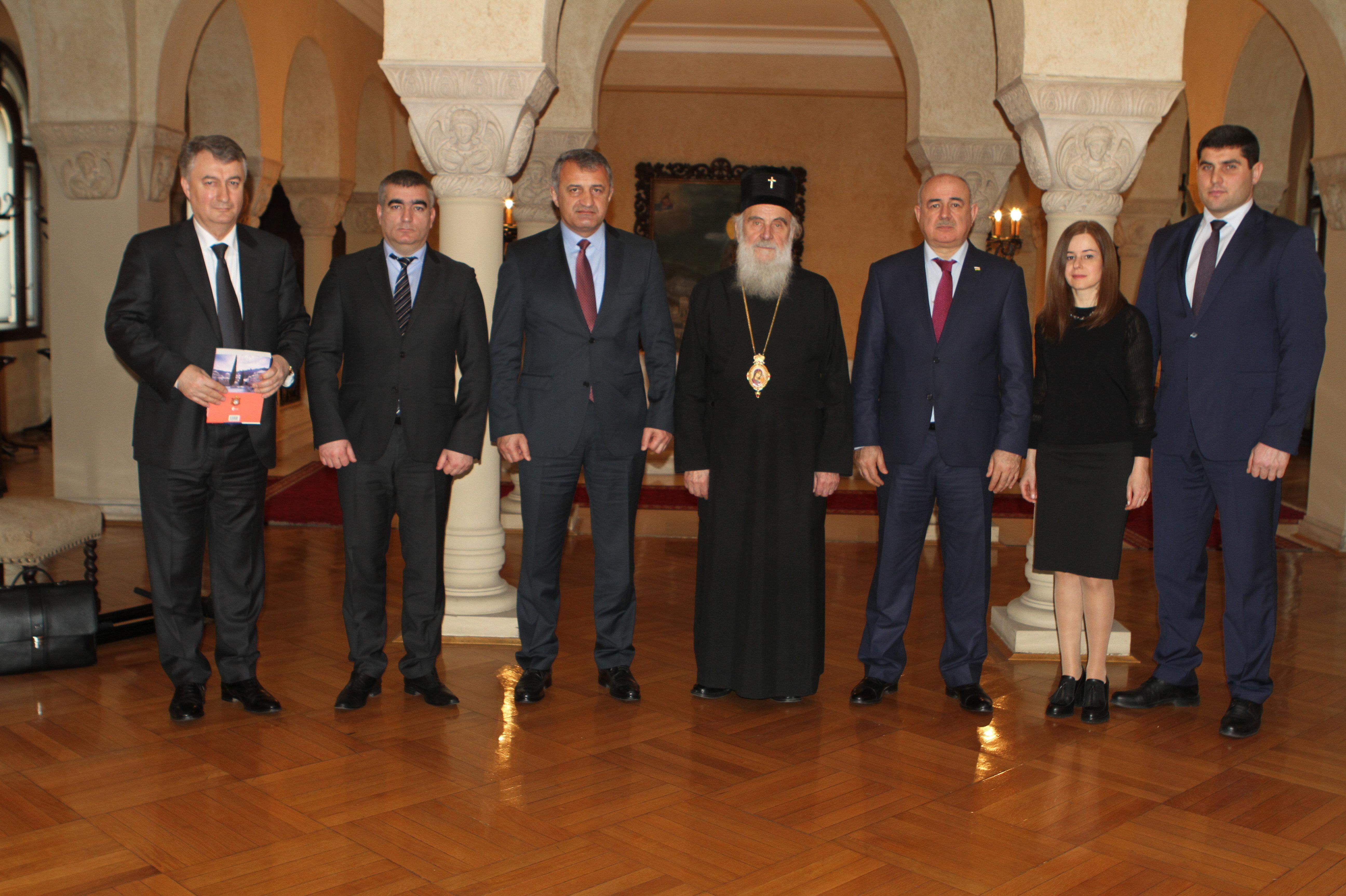 Встреча президента РЮО с патриархом Сербским