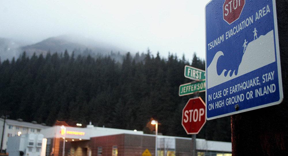 Около  Аляски случилось  мощное землетрясение, есть угроза цунами
