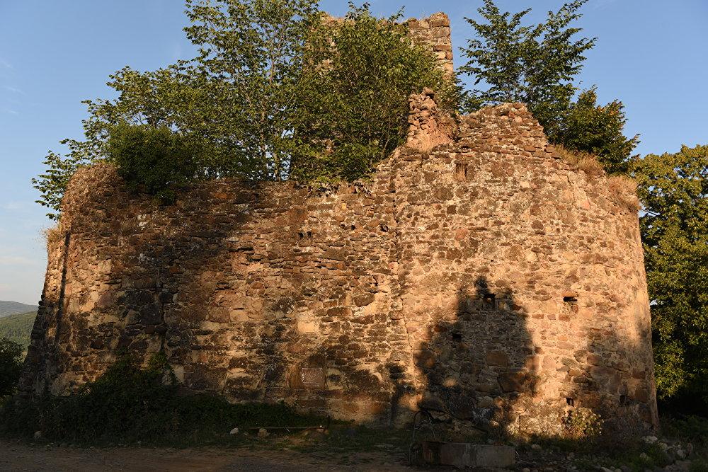 Крепость-дворец 16-17 века в селе Дзагина Знаурского района