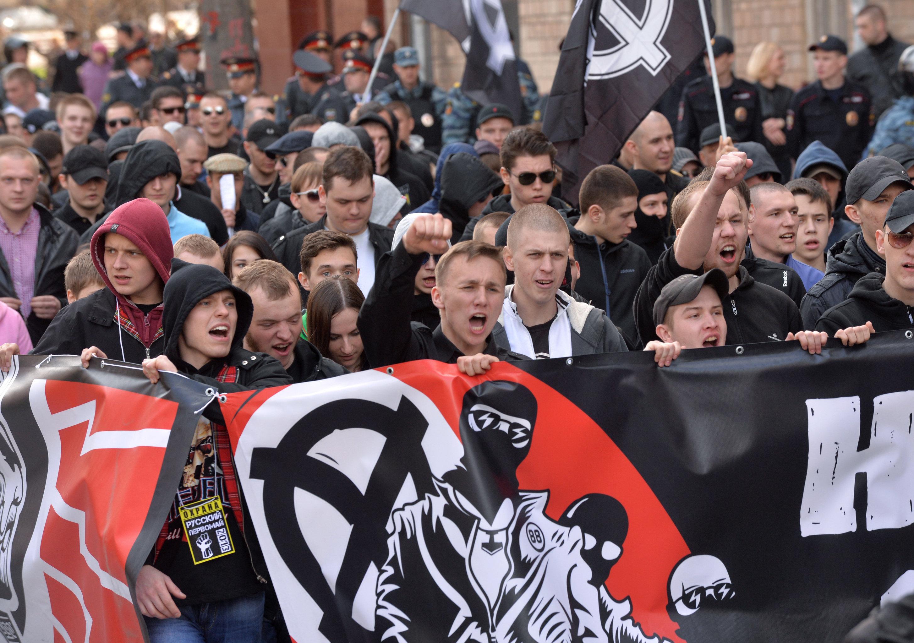 Шествие националистического объединения Русские