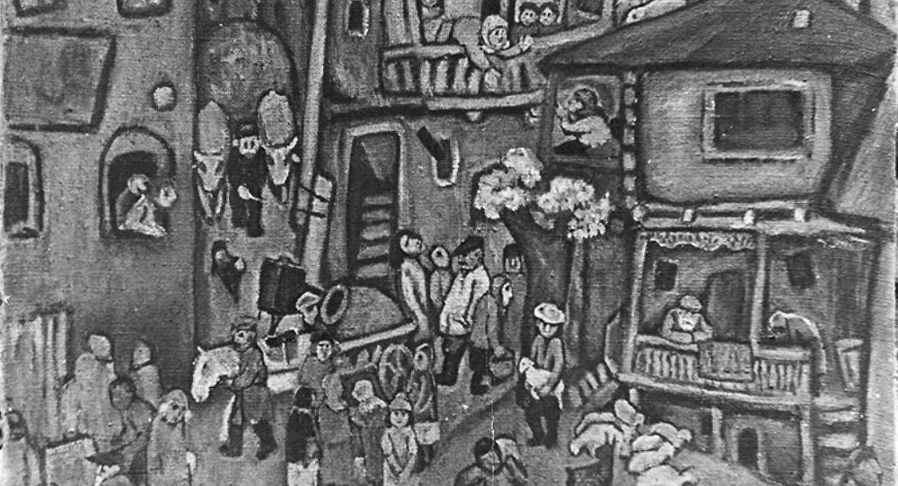 Картина художника Хсара Гассиева На базар
