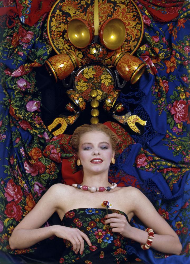 Повседневный макияж от художника-модельера и визажиста Валентина Юдашкина, 1986 год