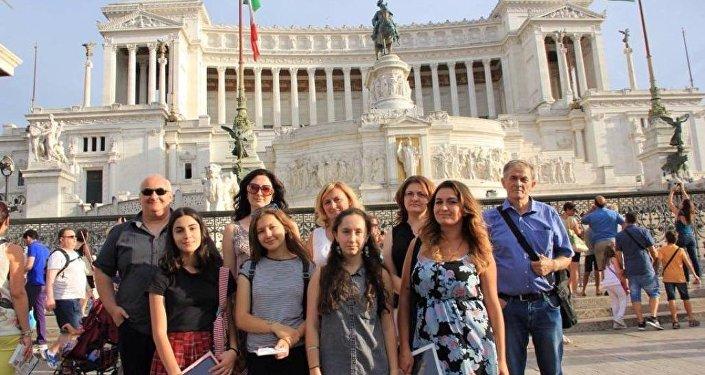 Художники из Осетии в Риме