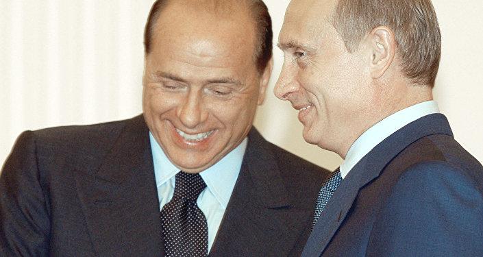 В.Путин и С.Берлускони во время переговоров
