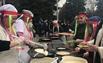 Более трех тысяч блинов испекли в СКГМИ в празднование масленицы