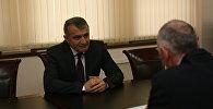 Встреча Анатолия Бибилова и мэра Квайсы Геннадия Баззаева