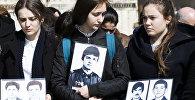 Митинг в Цхинвале в память жертв геноцида