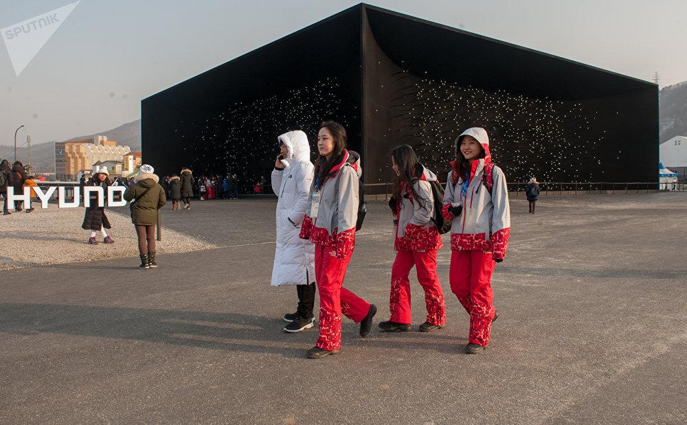 Архитектору Асифу Кхану было поручено создать по случаю зимних Олимпийских игр 2018 года новое здание Hyundai Pavilion с параболическими стенами высотой 10 метров и длиной 35 метров и покрыть его одним самым черным из известных веществ Vantablack VBx 2.