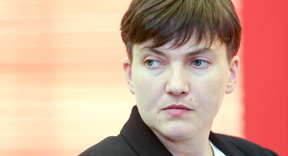Депутат Верховной рады Украины Надежда Савченко