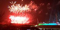 Фейерверк в честь завершения Паралимпиады озарил небо над Пхенчханом