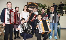 Конкурс гармонистов  в Цхинвале