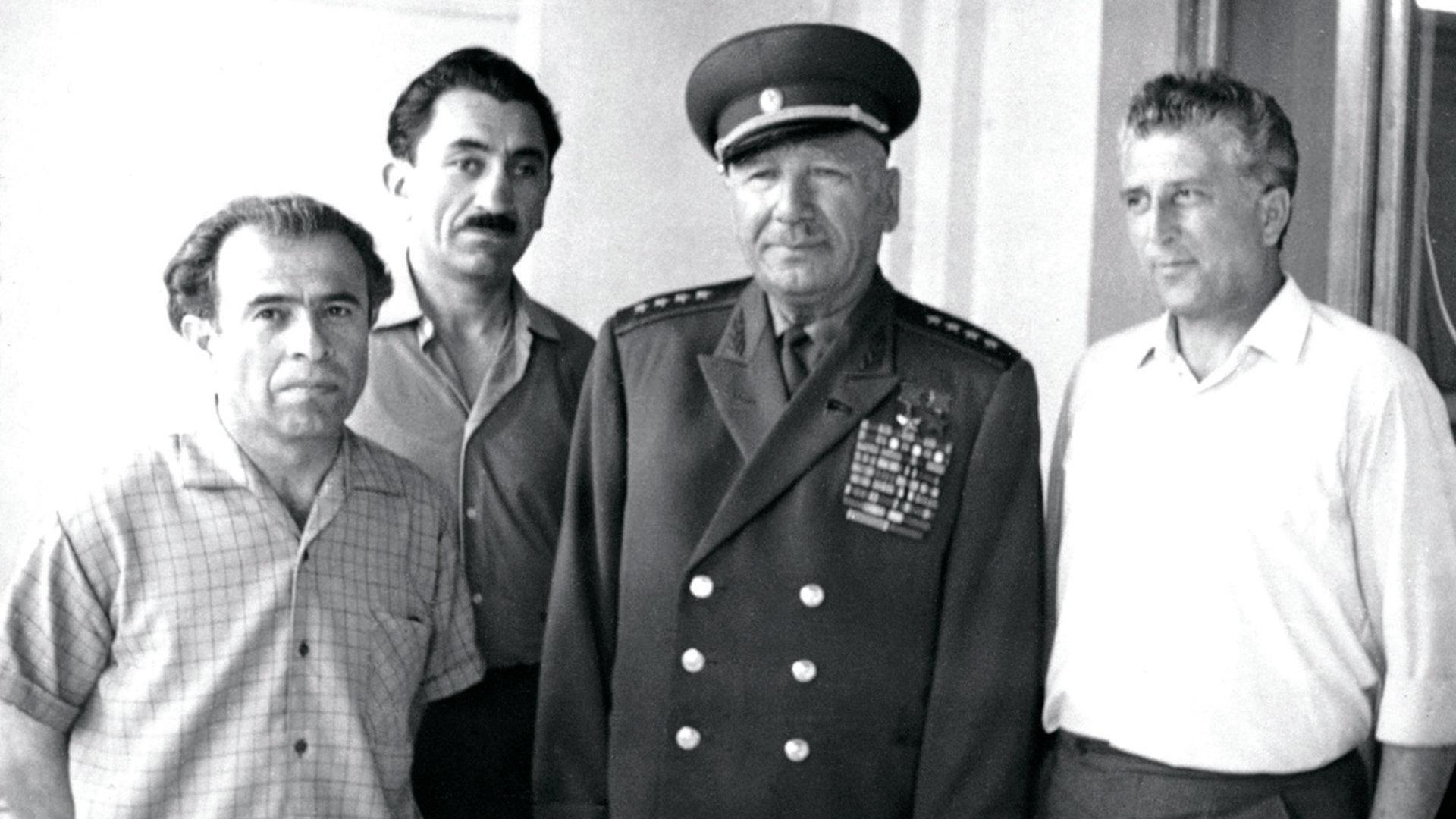 Василий Кокоев, Григорий Котаев, Исса Плиев и Борис Санакоев