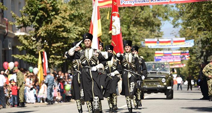 Военный парад к 25-летию РЮО