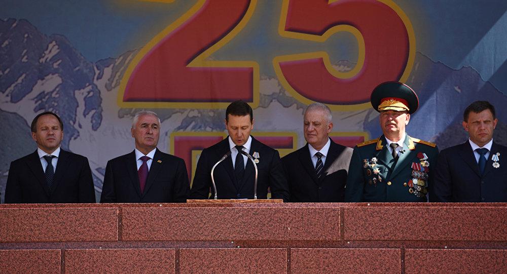 Глава управления Президента РФ Олег Говорун в Цхинвале