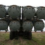 Береговой ракетный комплекс Бал на полигоне Железный рог на черноморском побережье Краснодарского края во время учений