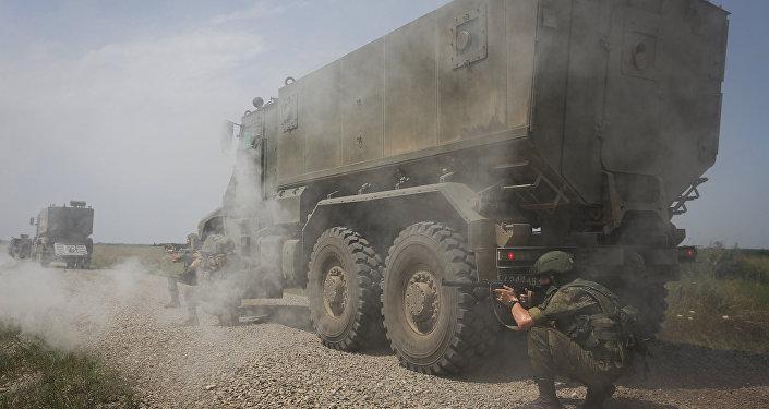 Тактические учения с подразделениями соединения специального назначения ЮВО