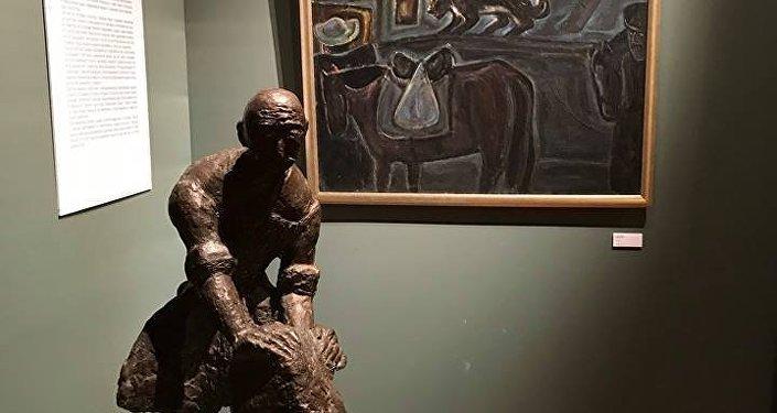 Выставка Семь монологов. Скульпторы и живописцы Осетии. Государственный музей искусства народов Востока