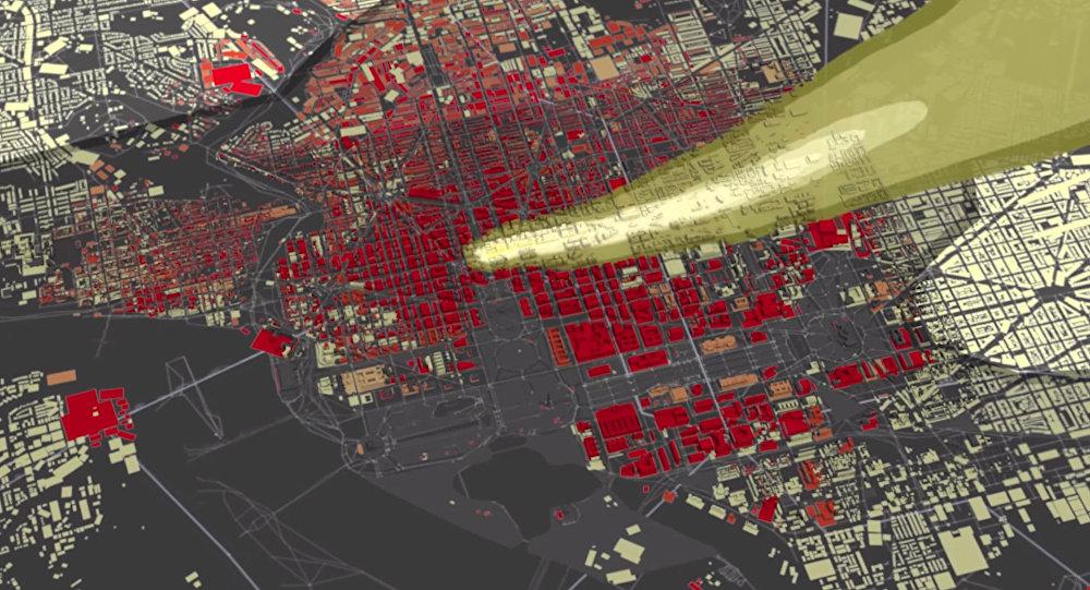 Модель взрыва перед Белым домом