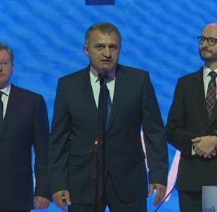 Бибилов на форуме в Ялте: мы хотим лучшего будущего для наших стран