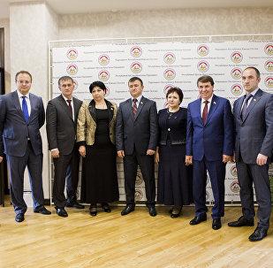 Заседание комиссии по сотрудничеству парламента Южной Осетии и Совета Федерации РФ