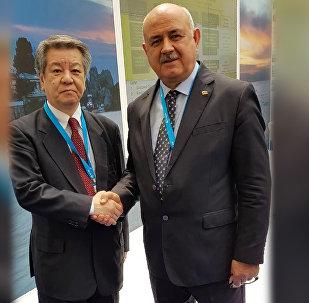 Министр иностранных дел Республики Южная Осетия Дмитрий Медоев провел встречу с председателем японской патриотической партии Иссуй-Кай Мицухиро Кимурой