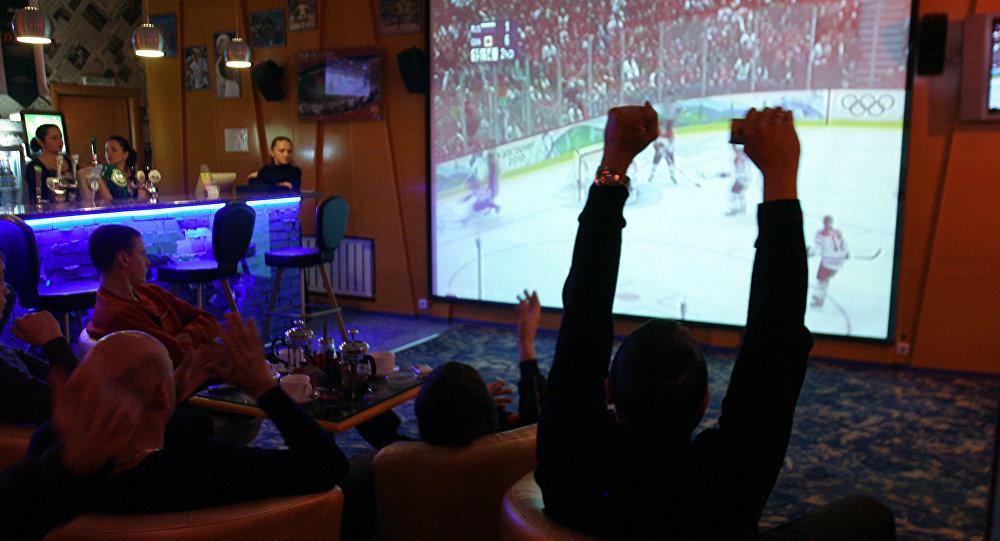 Трансляция хоккейного матча