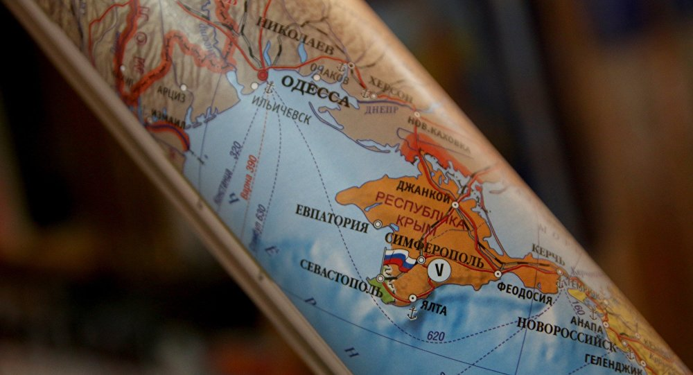 Карта Европы с российским Крымом.