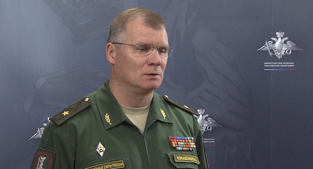 СПУТНИК_Представитель Минобороны РФ рассказал об авиаударах по позициям ИГ в Сирии (копия)