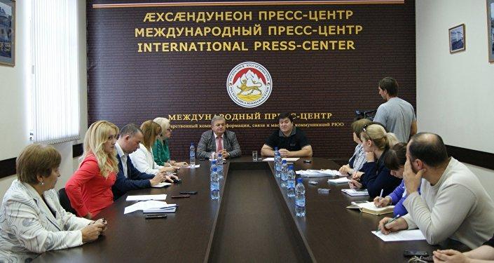 Пресс-конференция главы Статуправления Инала Тибилова