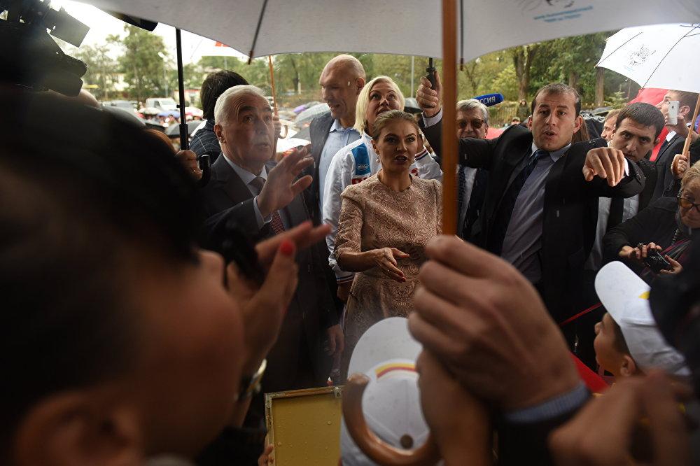 Открытие спорткомплекса Олимп в Цхинвале