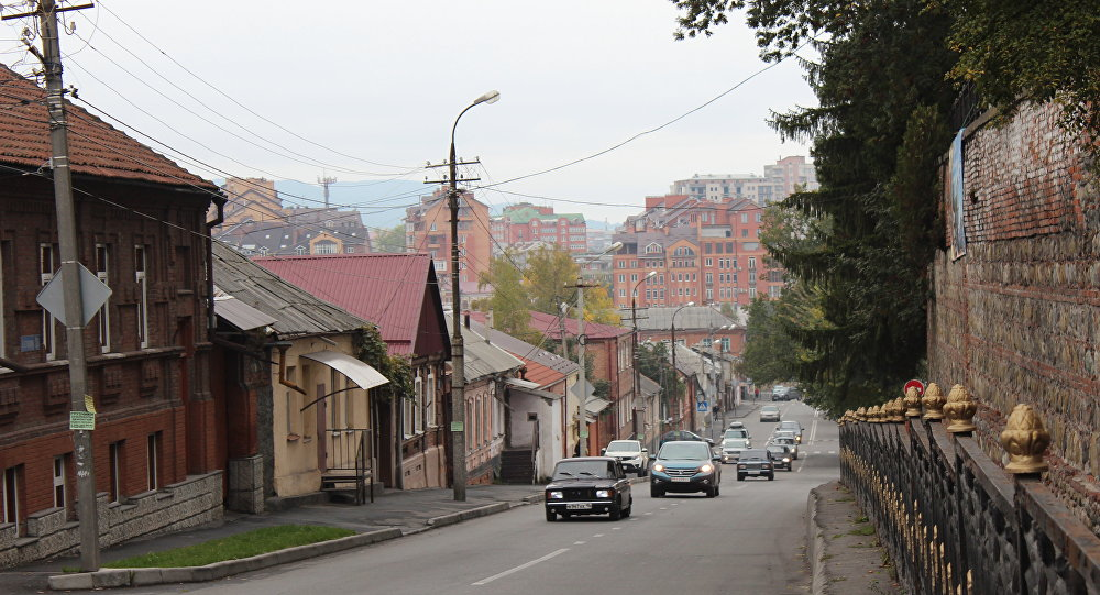 Улица Коста Хетагурова во Влидикавказе