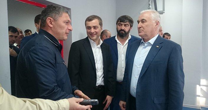 Помощник президента РФ Владислав Сурков в Цхинвале