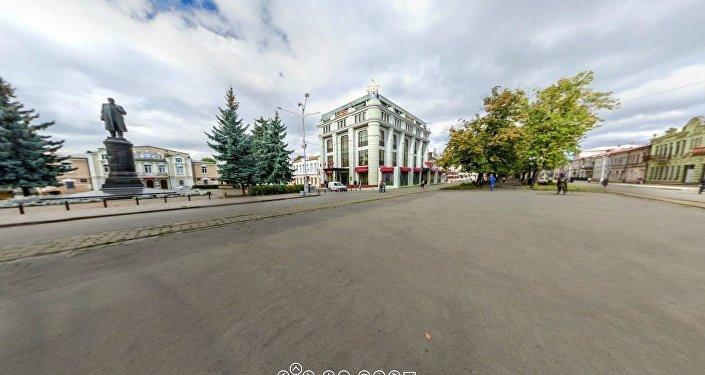 Проспект Мира, Владикавказ. Панорама