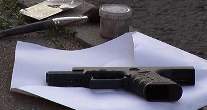 Пистолет, изъятый сотрудниками МВД